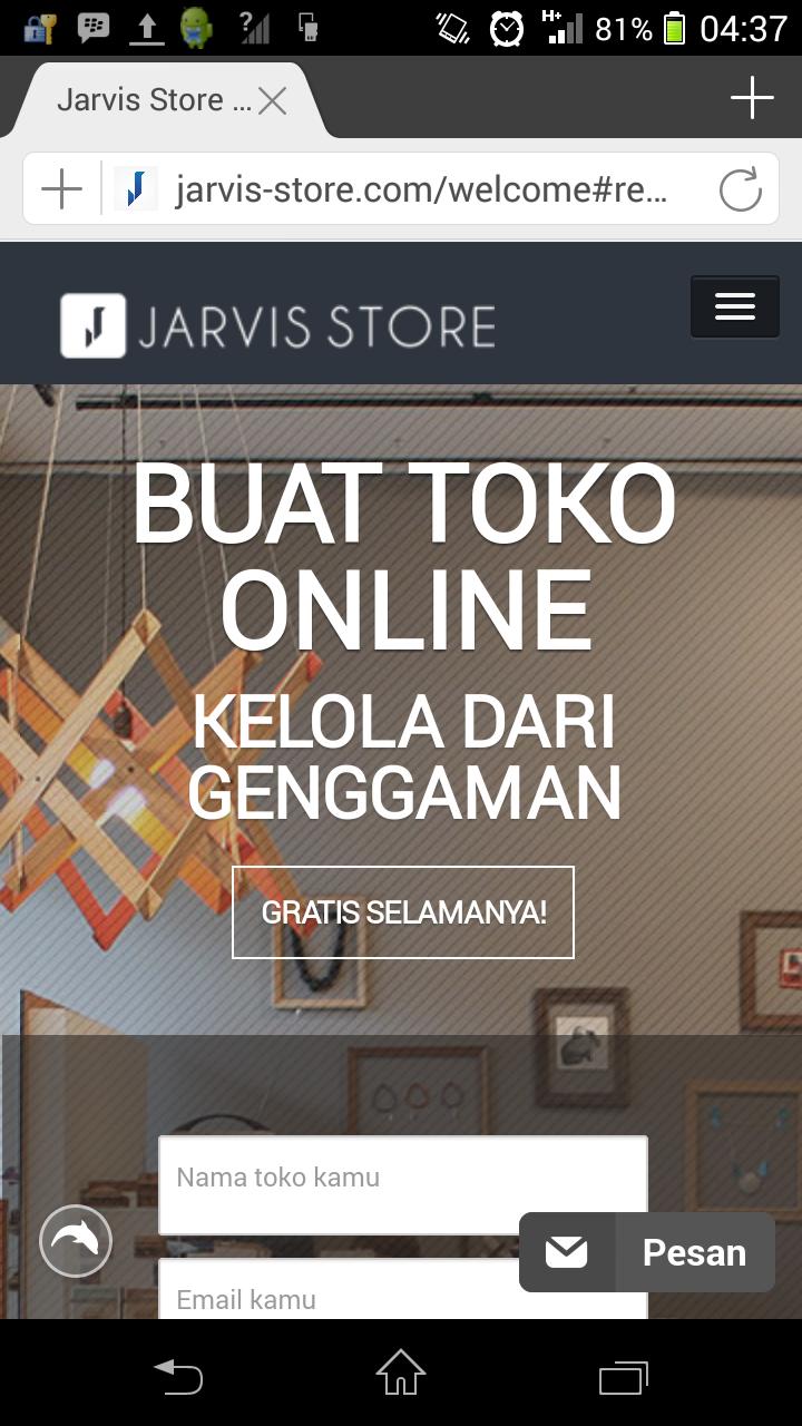 tahap 1 - buka jarvis-store.com