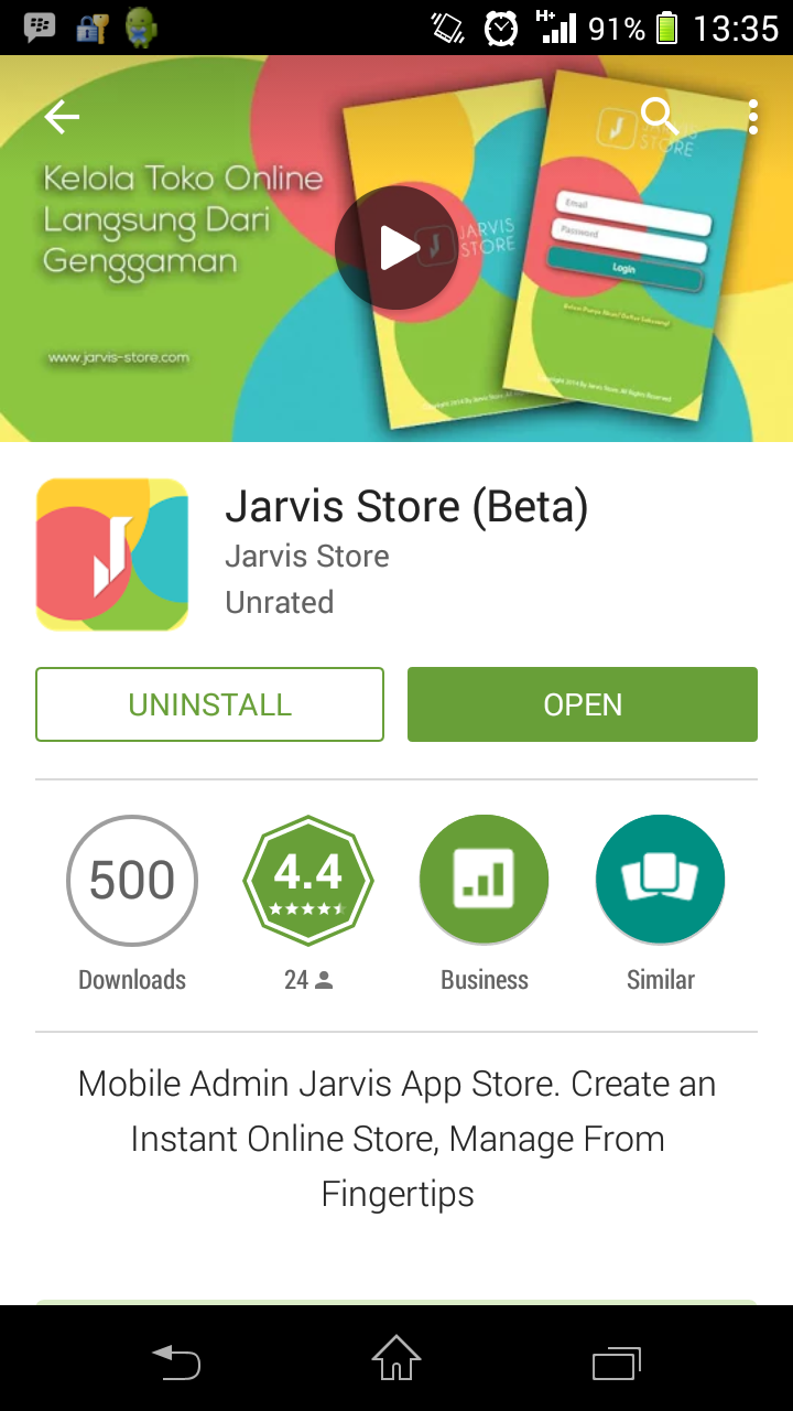 Mobile Apps Jarvis-Store