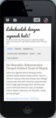 Tampilan putrichairina.com ketika menggunakan iPhone5