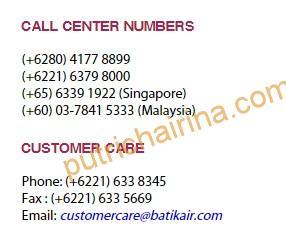 Call Center BatikAir