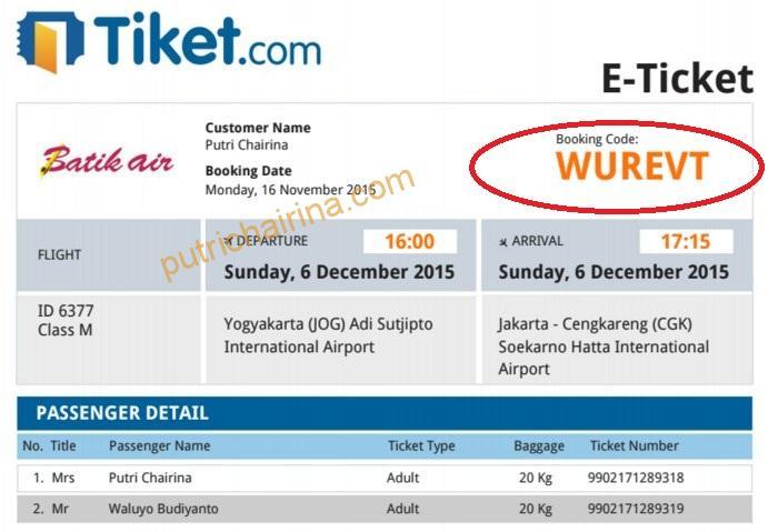 eTicket BatikAir dari Tiket.com